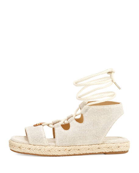 McKenna Fabric Flatform Sandal, Neutral