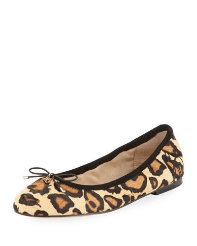 Felicia Leopard-Print Ballerina Flat