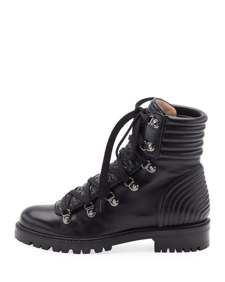 Mad Leather Lace-Up Ankle Boot, Black