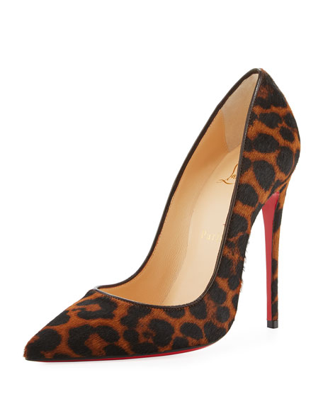 Christian Louboutin So Kate Calf-Hair 120mm Red Sole