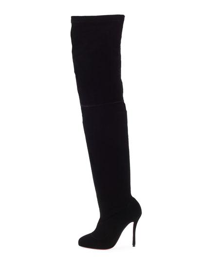 Classe Velvet Red Sole Over-the-Knee Boot