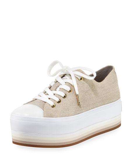 Ronnie Canvas Platform Sneaker, Beige