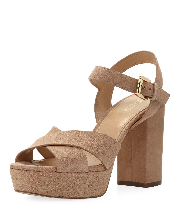 54188de54e4 MICHAEL Michael Kors Divia Suede Platform Sandal