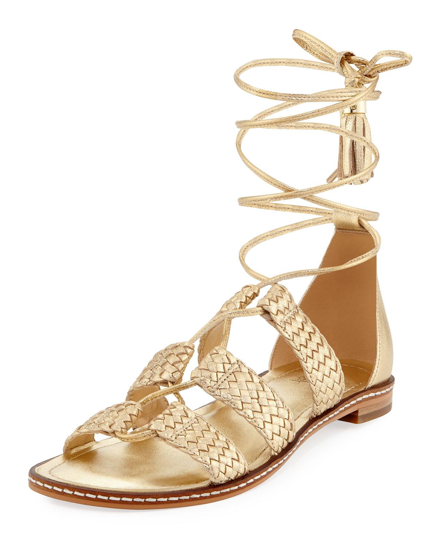 181958f8542 MICHAEL Michael Kors Monterey Woven Metallic Gladiator Sandal ...