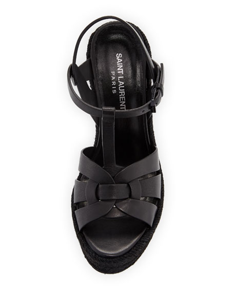 Tribute Leather Platform Espadrille Sandal