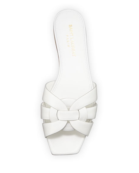 Nu Pieds Flat Calf Leather Slide Sandal