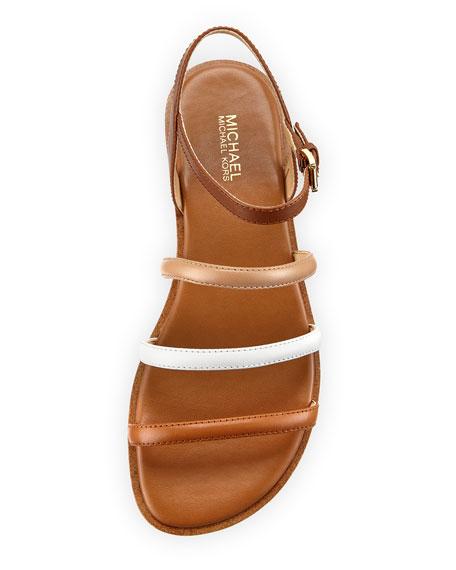Nantucket Strappy Flat Sandal, Brown