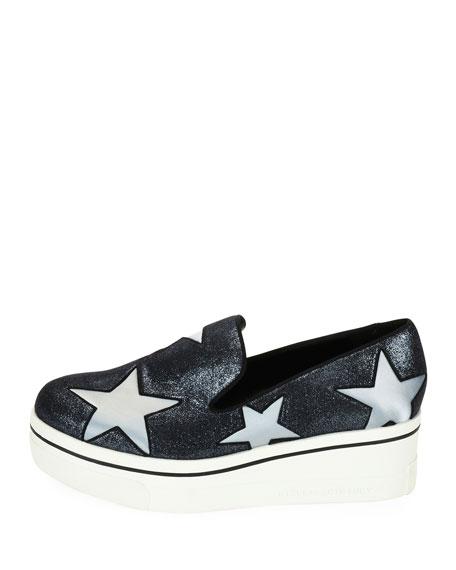 Binx Stars Glittered Loafer, Silver