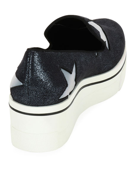Binx Stars Glittered Loafer, Silver