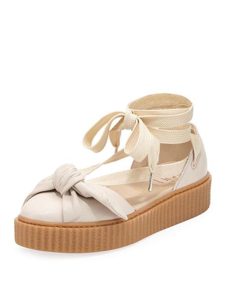 Fenty Puma by Rihanna Bow Ankle-Wrap Sneaker-Style Sandal,