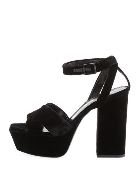 Farrah Velvet Platform Sandal