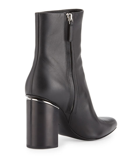 Kirby Zip-Up Ankle Boot, Black