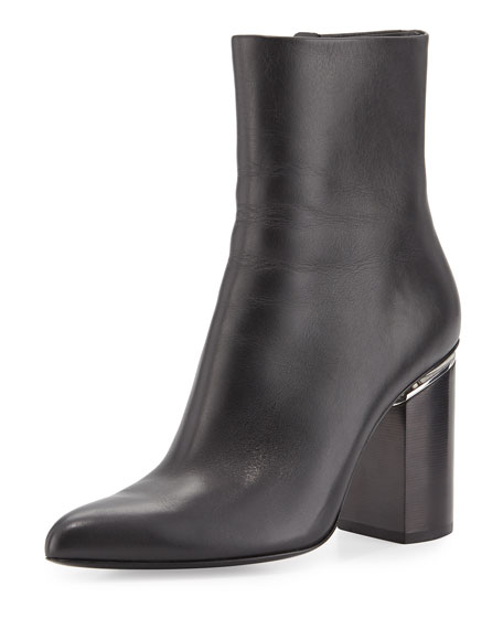 Alexander Wang Kirby Zip-Up Ankle Boot, Black