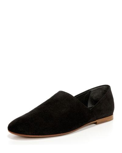 Maude Suede Loafer, Black