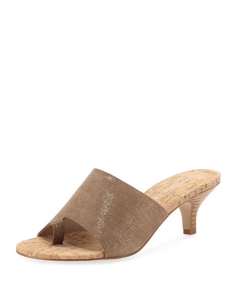 Donald J Pliner Reo Metallic Slide Sandal, Bronze