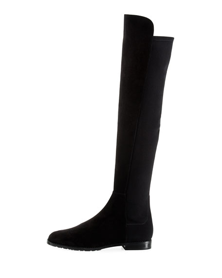 Stuart Weitzman Corley Over-The-Knee Suede Boot, Black