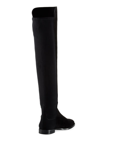 Corley Suede Over-The-Knee Boot, Black
