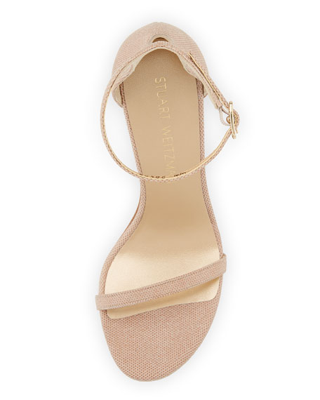 Nudistsong Beaded Napa Sandal, Medium Beige