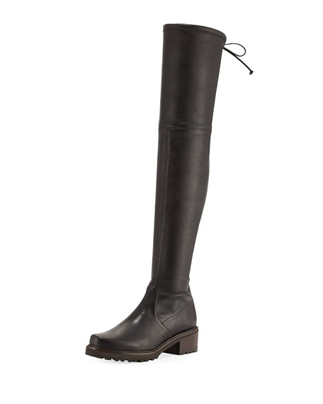 Stuart Weitzman Vanland Leather Over-the-Knee Boot
