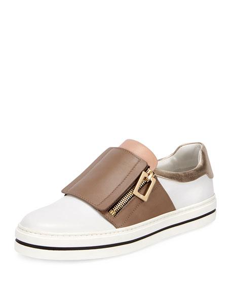 Roger Vivier Sneaky Viv Colorblock Sneaker, White