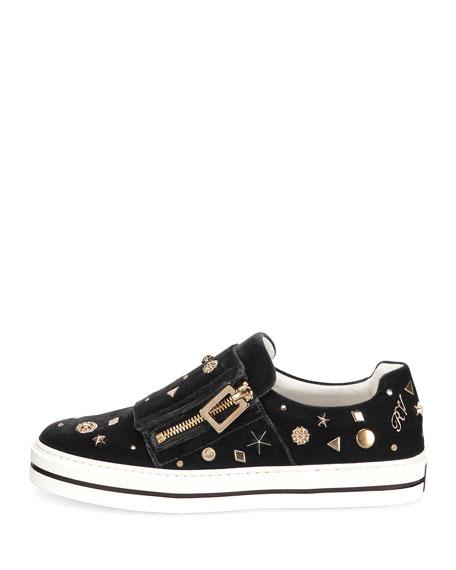 Sneaky Viv Astre Studded Sneaker, Black
