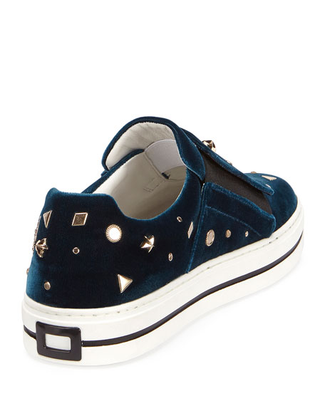 Sneaky Viv Astre Studded Sneaker, Turquoise