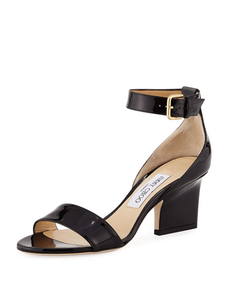 Jimmy Choo Edina Patent Sandal, Black