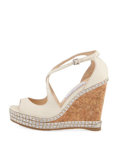Dakota Wedge Espadrille Sandal, Off White