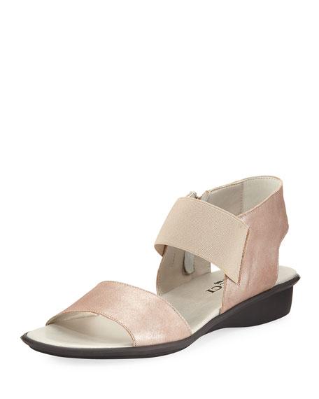 Sesto Meucci Elki Demi-Wedge Flat Sandal, Sand