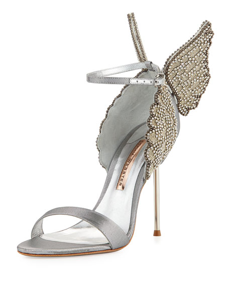 Sophia Webster Evangeline Angel Wing Sandal, Silver