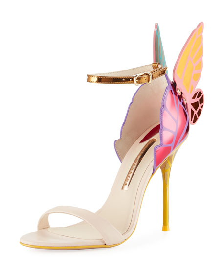 Sophia Webster Chiara Butterfly Wing Multicolor Sandal