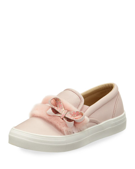 Sophia Webster Adele Bella Faux-Fur Sneaker