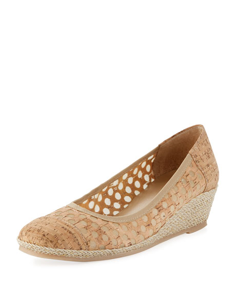 Sesto Meucci Mabyn Cork Wedge Slip-On Espadrille, Beige