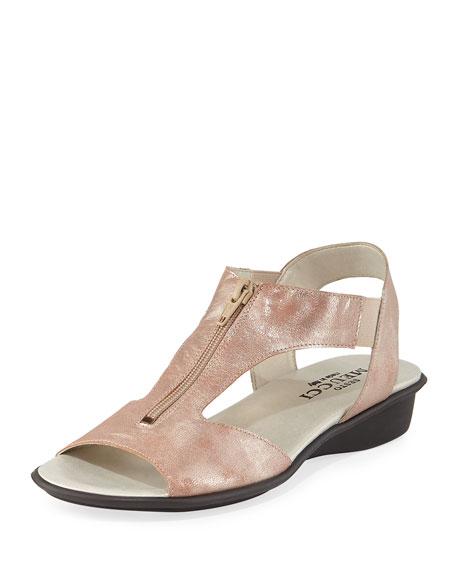 Sesto Meucci Eliso Metallic Comfort Sandal, Sand