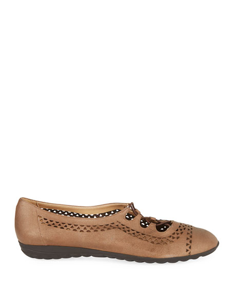 Bizzy Perforated Slip-On Flat, Brown