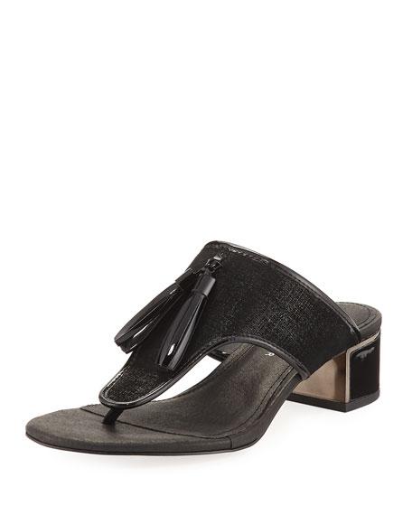 Donald J Pliner Tira Tassel Thong Slide Sandal,