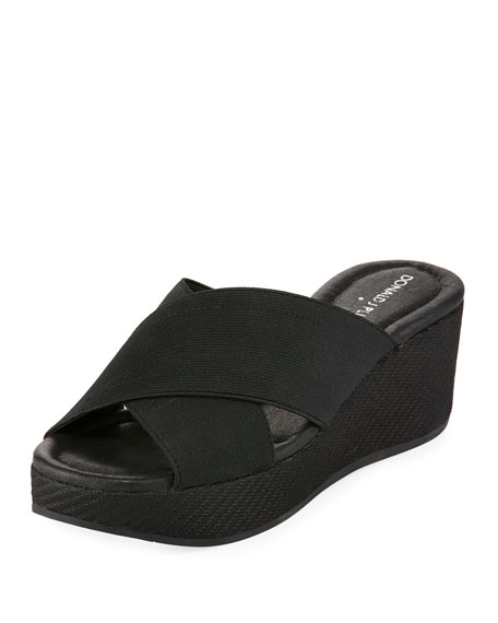 Donald J Pliner Savee Wedge Slide Sandal, Black