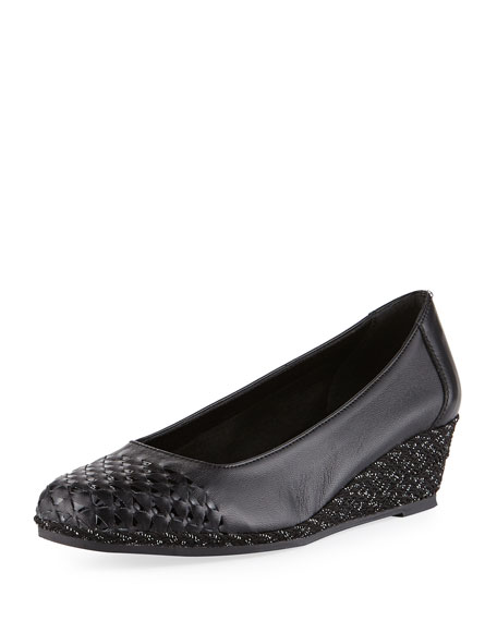 Sesto Meucci Magaly Woven Slip-On Espadrille Pump, Black