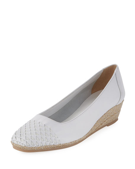 Magaly Woven Slip-On Espadrille Pump, White