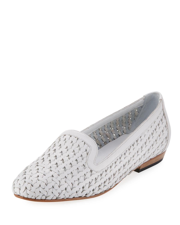 ab473e1c95e1f Neya Woven Leather Loafer, White