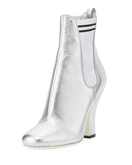 Fendi Marie Antoinette Metallic Sock Bootie