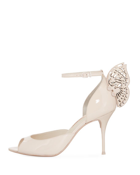 Flutura Patent Butterfly Wing Sandal