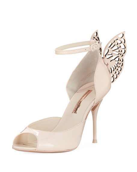 Sophia Webster Flutura Patent Butterfly Wing Sandal