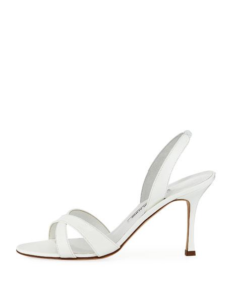 Callasli Patent Leather Slingback Sandal