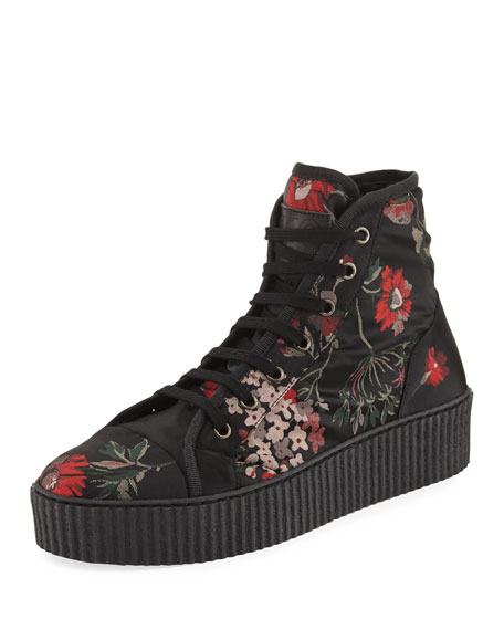 MM6 Maison Martin Margiela Floral-Print High-Top Sneaker, Multi