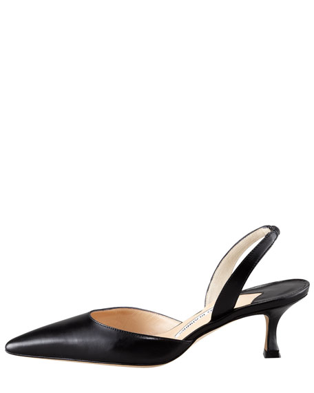 Carolyne Low-Heel 50mm Halter, Black