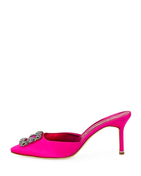 Hangisi 70mm Satin Mule Pump