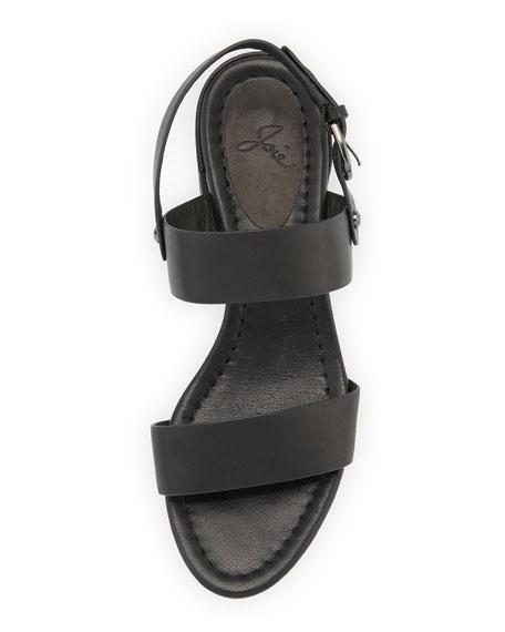 Rach Vachetta City Sandals, Black
