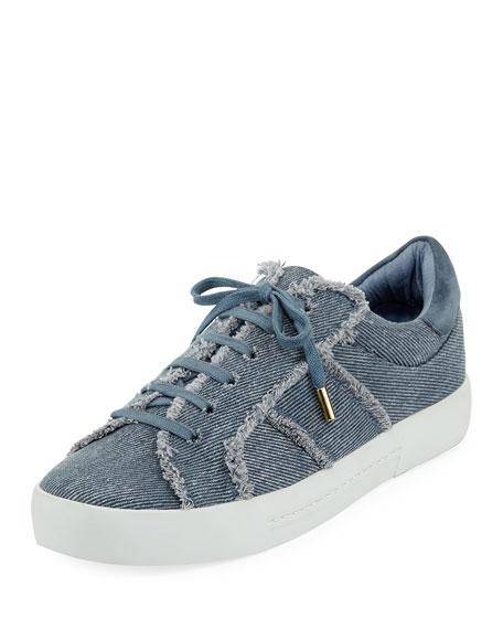 Joie Dakota Frayed Denim Low-Top Sneaker