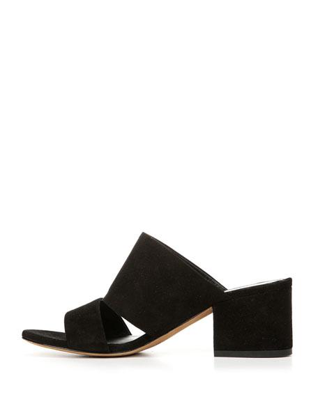 Charleen Suede Mule Sandal, Black